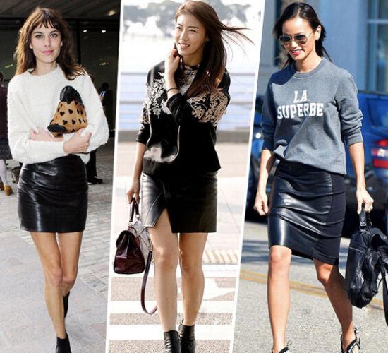 冬天炫酷时代来临让皮裙带你玩转潮流型格