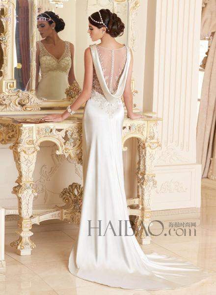 融会贯通中西方婚纱简洁优雅中彰显古典之美