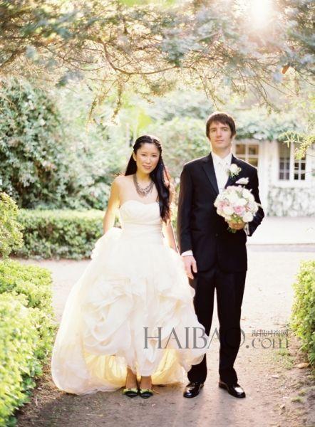 田园风格婚礼天然植物拱门缔造完美仪式场地