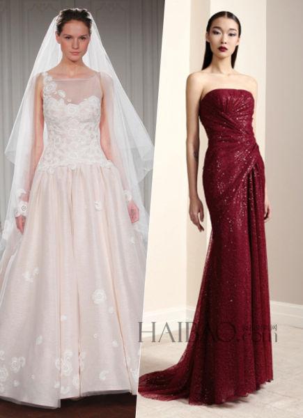 时尚新娘优雅华丽的嫁衣随你度过美丽大日子