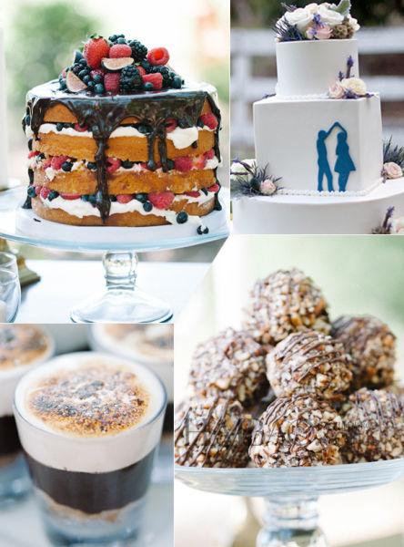 婚礼上的蛋糕与甜品诱人美味中共享甜蜜