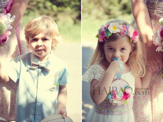 甜蜜天使带来新婚祝福为幸福大日子增添童趣