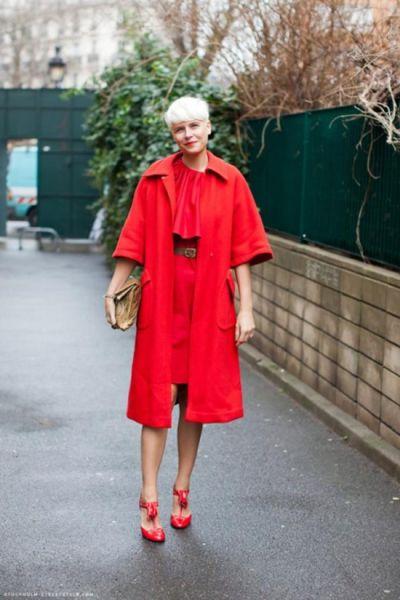 时尚达人完美示范教你玩转圣诞红黄绿穿搭