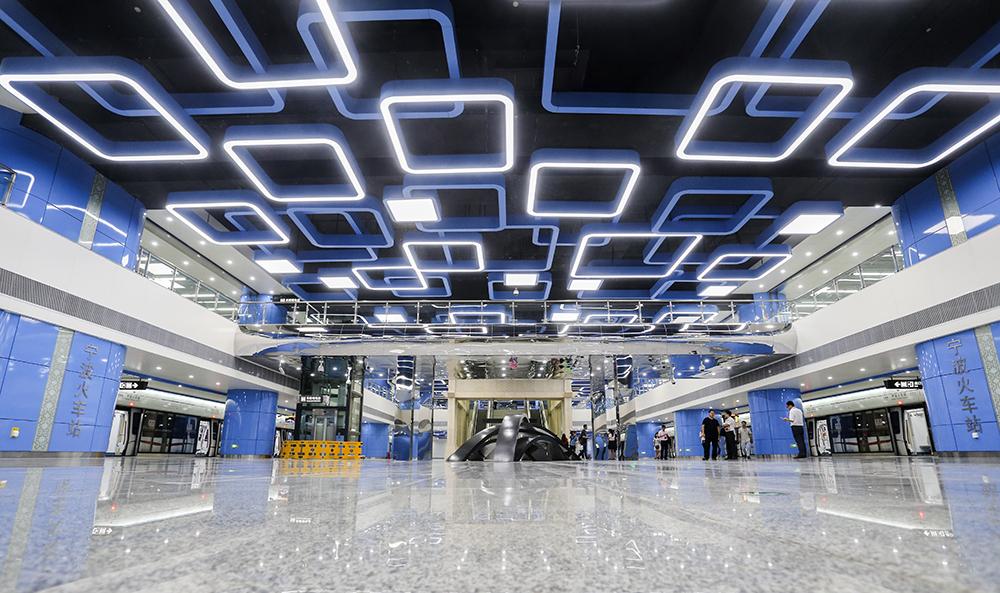 轨交2号线,宁波火车站