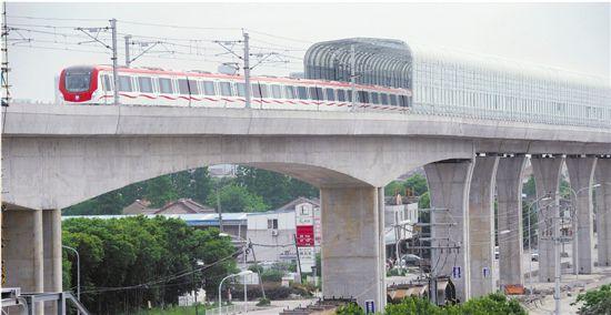 宁波轨交2号线一期,开始列车调试