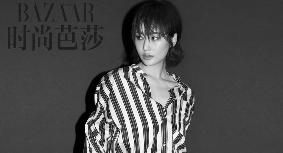 李纯登杂志黄金刊 大玩黑白炫酷变身时尚icon