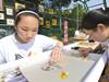 学生表演金银彩绣